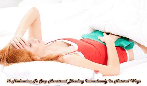 Medication To Stop Menstrual Bleeding Immediately