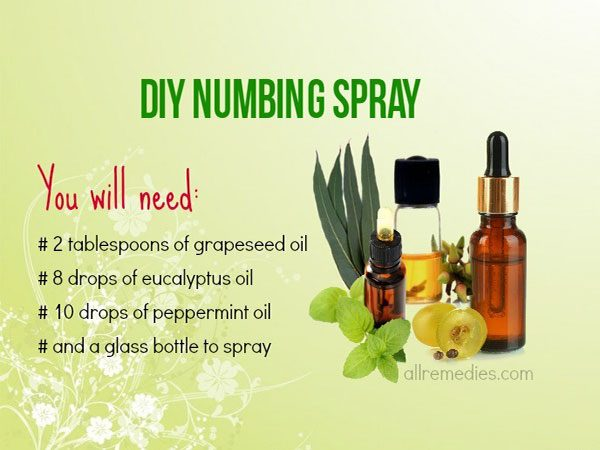 DIY Peppermint and Eucalyptus Numbing Spray for Canker Sores In Mouth
