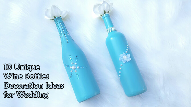 How to Paint Wine Bottles for Weddings