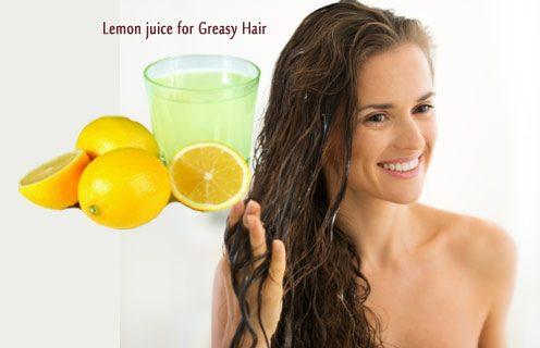 Lemon juiceforGreasy Hair