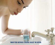 Mouth rinse using salt water