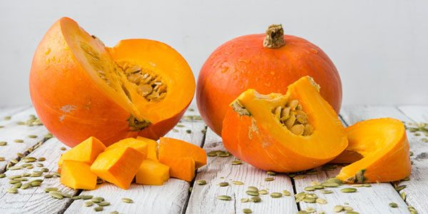 Pumpkin treatment mask for damaged hair