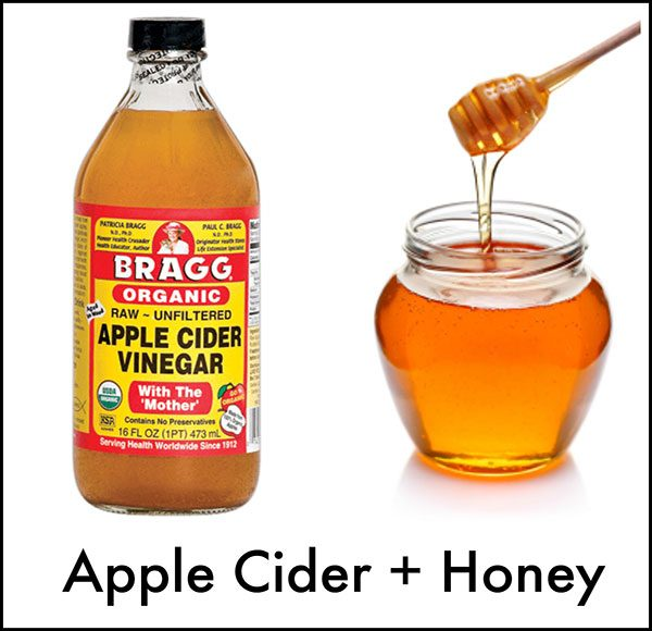 Use of apple cider vinegar and honey