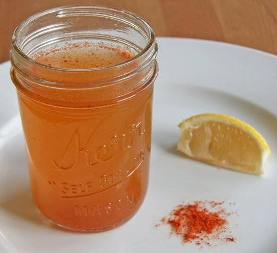 Use of apple cider vinegar, cayenne pepper and honey