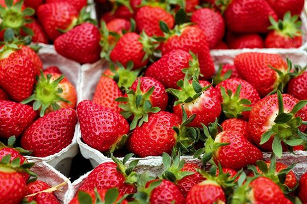 Strawberries  for getting white teeth home remedies